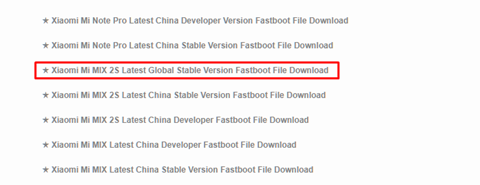 Xiaomi Mi MIX 2S Latest Global Stable Version Fastboot File Download